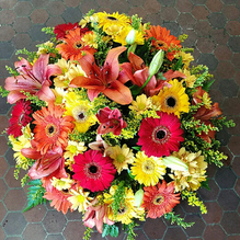 bouquet rind jaune rouge et orange